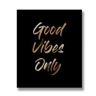 'Good Vibes Only' Wall Plaque